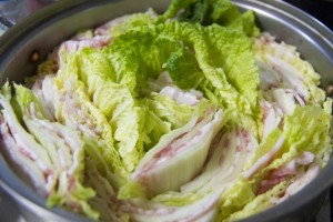 豚肉を使った白菜鍋