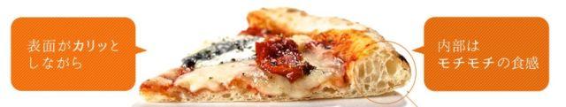 ピザの食感が違う