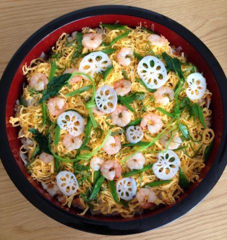 錦糸卵を使ったちらし寿司