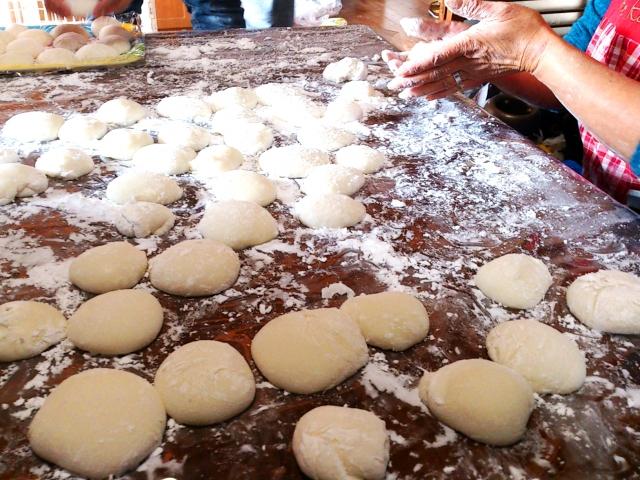 家庭で作った餅