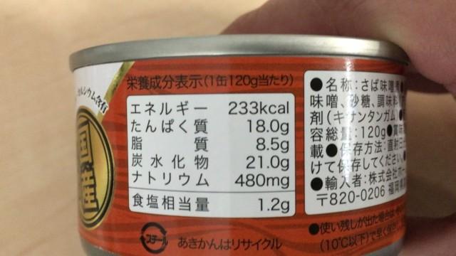 さばの味噌煮の消費期限