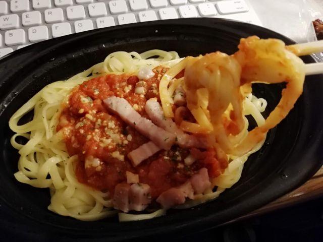スパゲティの加熱