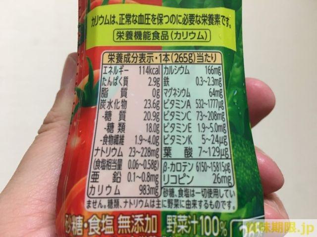 1日分の野菜の栄養素