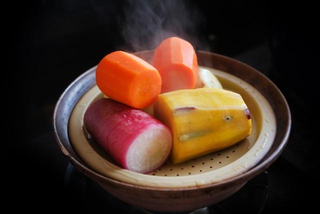 野菜を蒸す