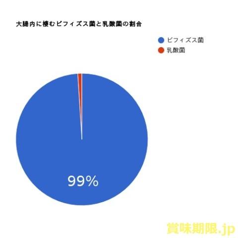 ビフィズス菌と乳酸菌の割合