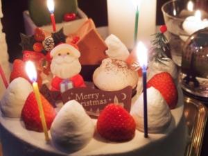 クリスマスケーキは100%冷凍